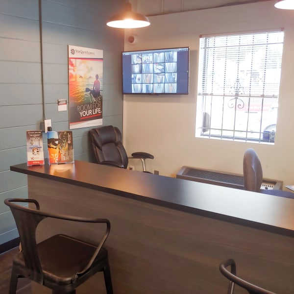 Interior of the leasing office at StorQuest Express - Self Service Storage in Tampa, Florida