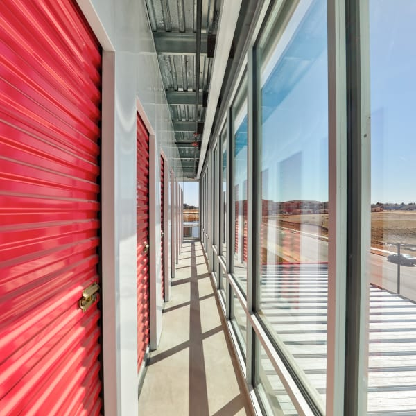 Climate controlled indoor storage units at StorQuest Self Storage in Denver, Colorado