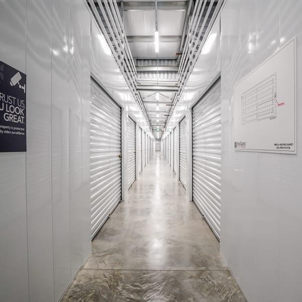 White doors on indoor units at StorQuest Self Storage in Santa Maria, California