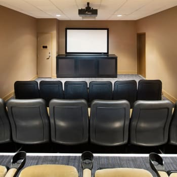 Private cinema at Metropolitan Towers in Vancouver, British Columbia