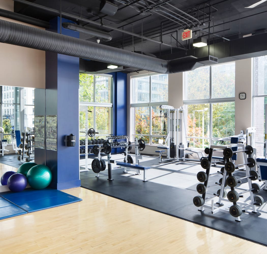 Fitness area at Metropolitan Towers in Vancouver, British Columbia
