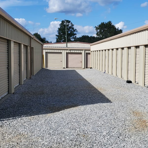 Outdoor storage units at StayLock Storage in Albany, Georgia