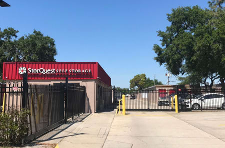 Gated entrance at StorQuest Self Storage in Tampa, FL