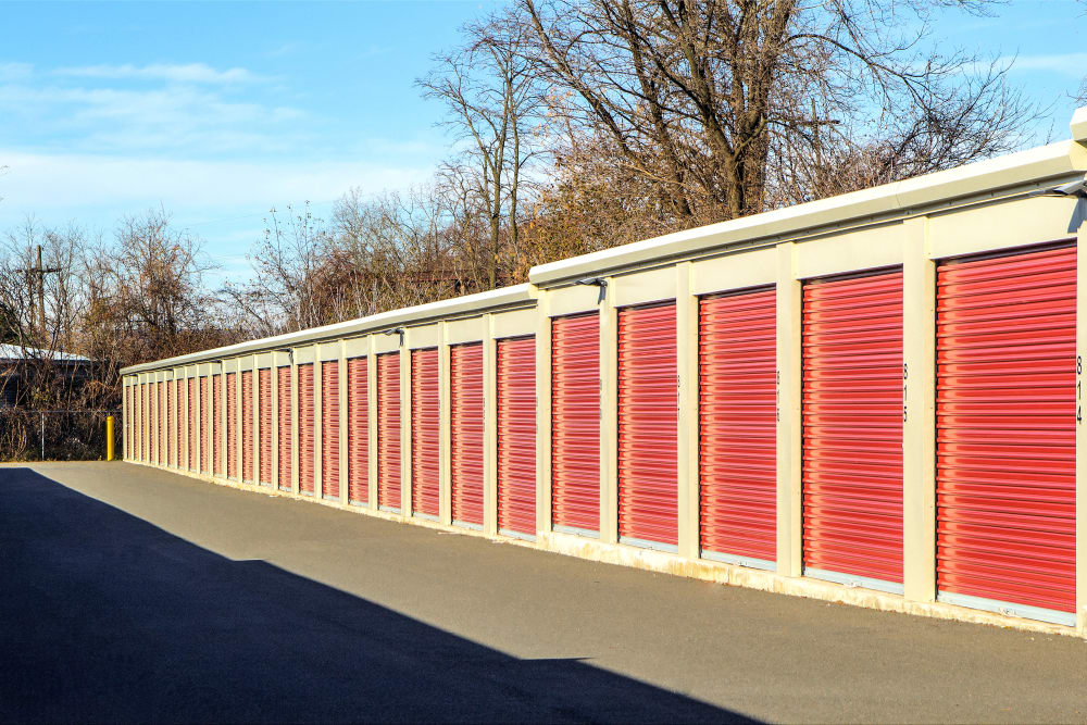 Wide driveways at Prime Storage in Schenectady, NY