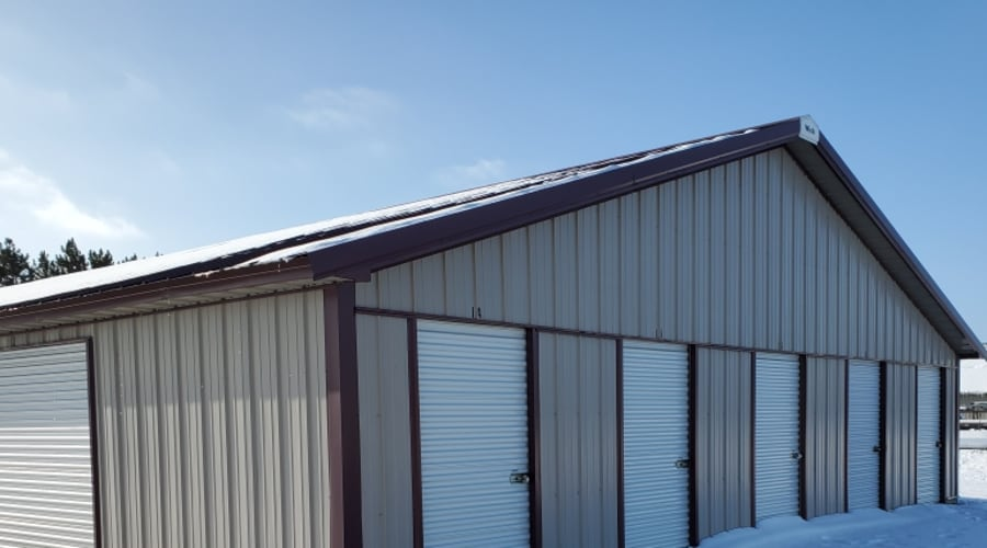 Exterior of outdoor units at KO Storage of Cass County in Pillager, Minnesota