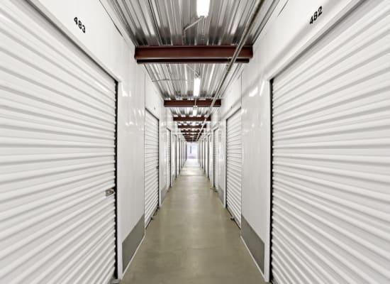 Clean hallways through self storage units at A-1 Self Storage in Lakeside, California
