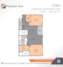 Two Bedroom, Mikado, at Pheasant Run in Michigan