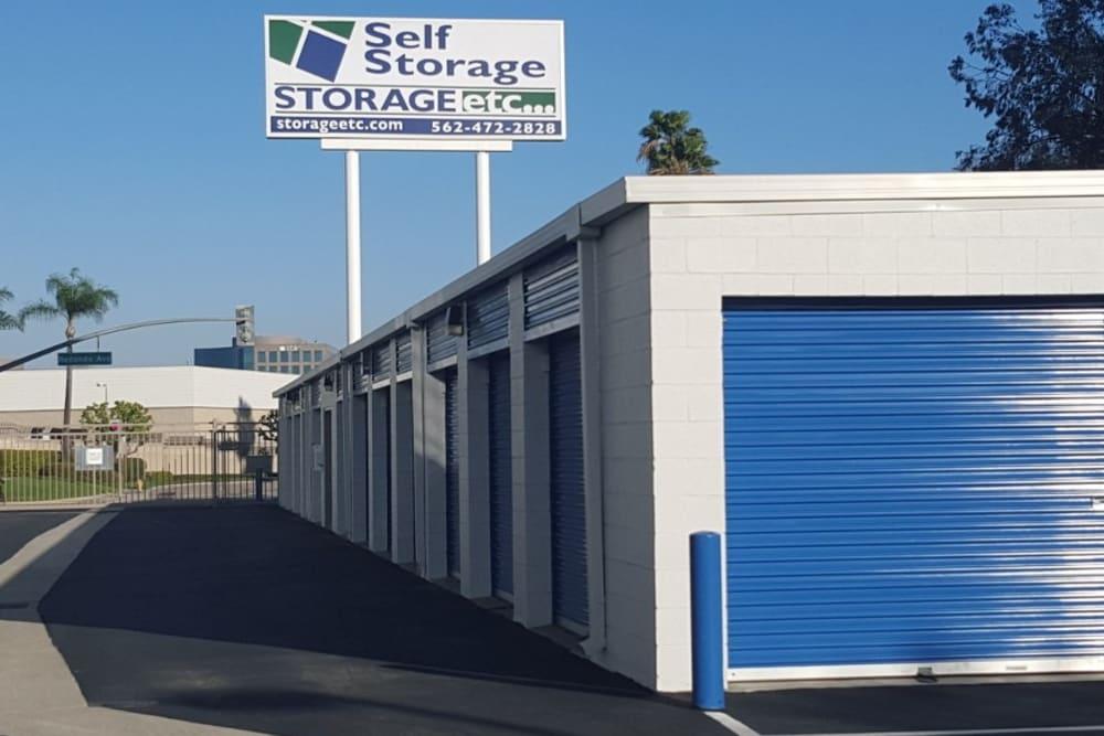 Outdoor Storage Units at Storage Etc... Long Beach
