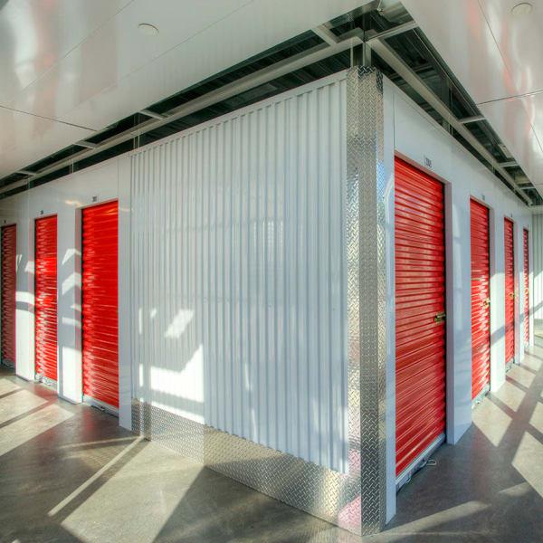 Indoor storage units at StorQuest Self Storage in Gardena, California