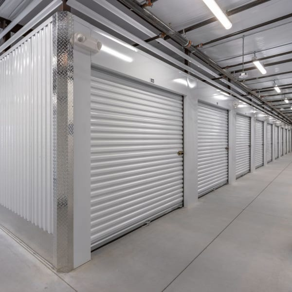 Climate controlled indoor storage units at StorQuest Express Self Service Storage in Cape Coral, Florida