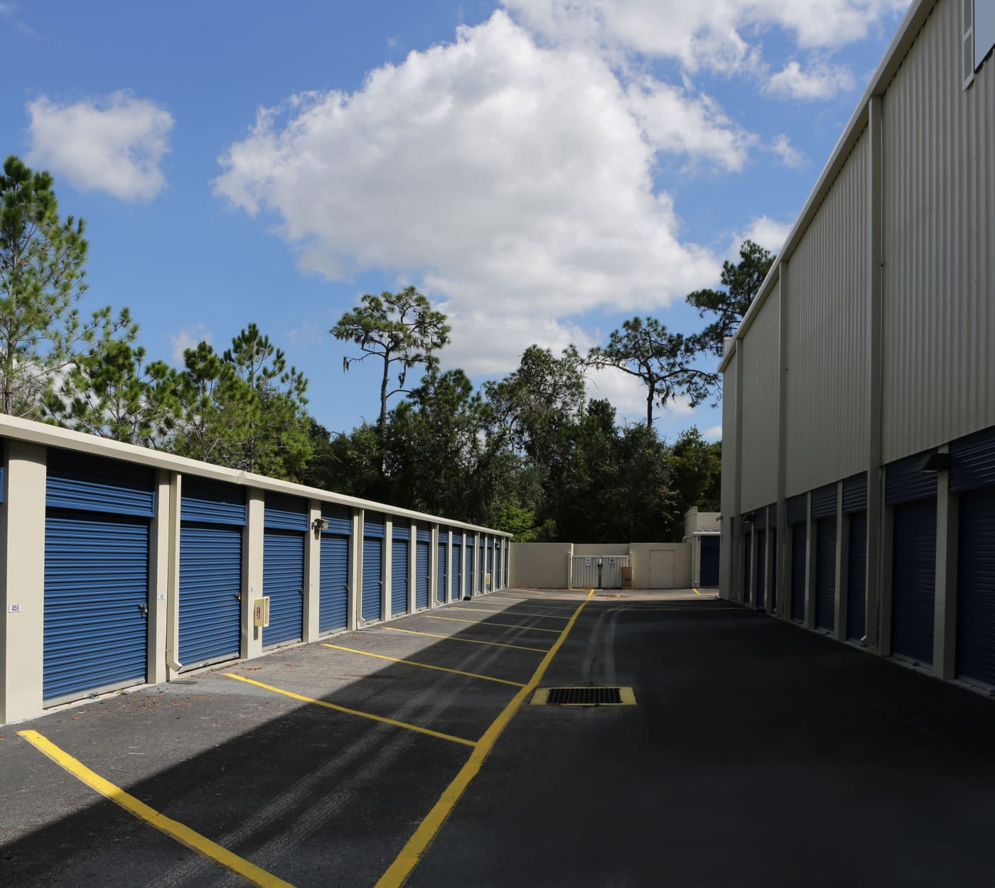 Ground-floor unit at Midgard Self Storage in Bradenton, Florida