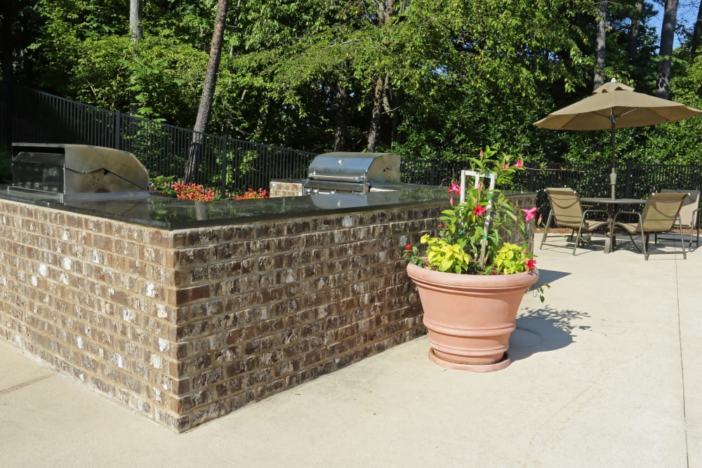 BBQ Area with Seating at Cahaba Grandview in Birmingham, Alabama