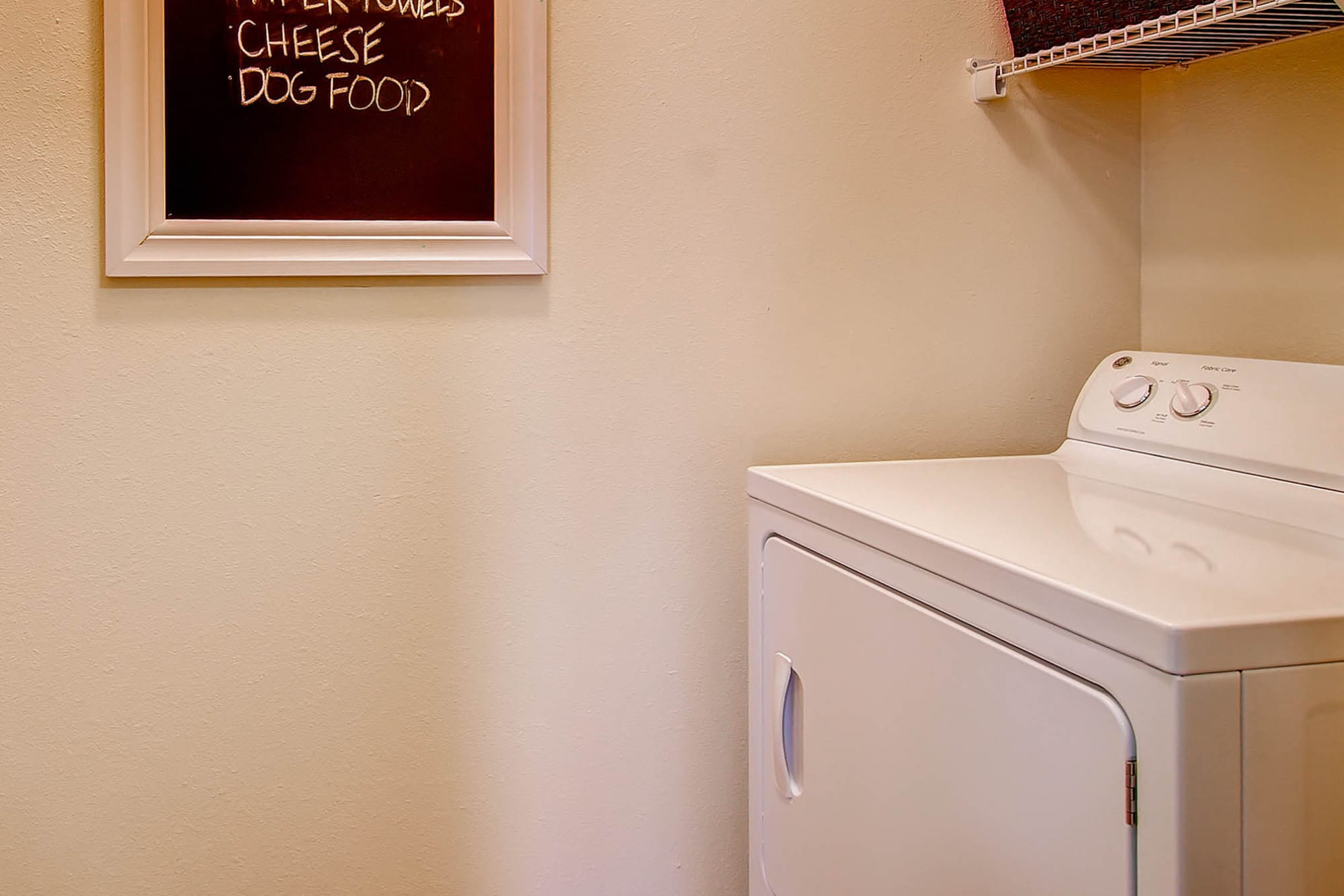 A washer and dryer at M2 Apartments in Denver, Colorado