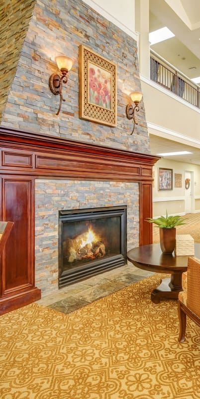 Fireplace at The Commons at Union Ranch in Manteca, California