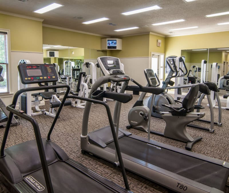 Resident fitness center at Amber Chase Apartment Homes in McDonough, Georgia