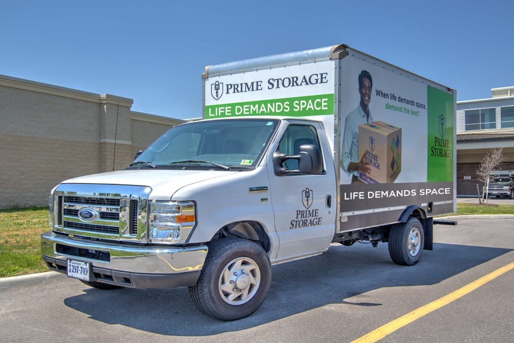 Moving truck at Prime Storage in Virginia Beach, Virginia