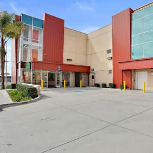 The driveway at A-1 Self Storage in San Diego, California