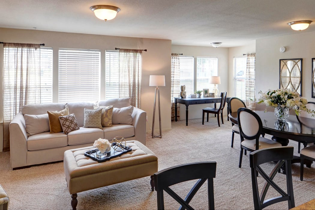 Luxury model apartment at Colonies at Hillside in Amarillo, Texas