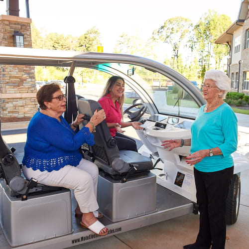 On-demand campus shuttle at The Crossings at Eastchase in Montgomery, Alabama