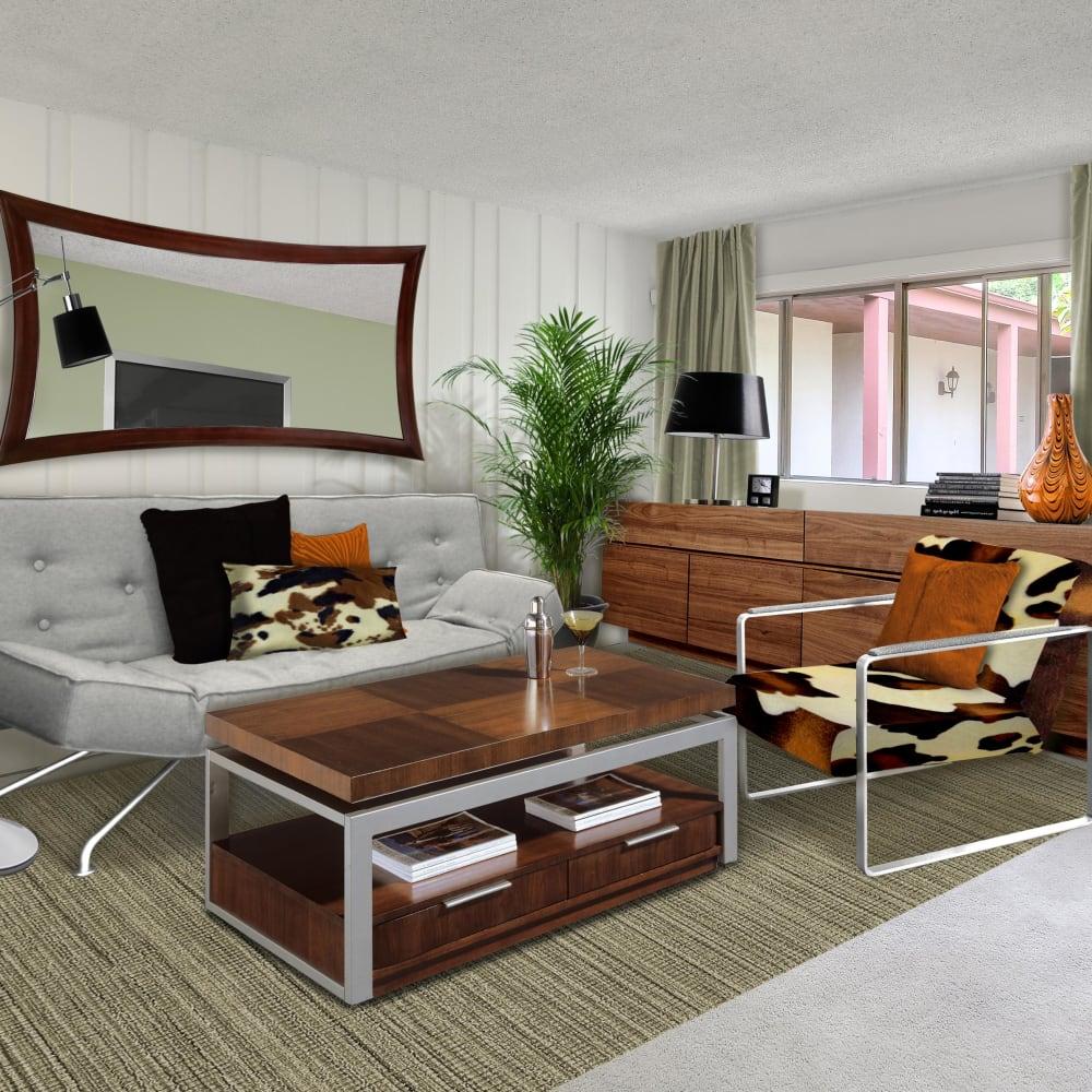 View a studio apartment virtual tour of Rancho Los Feliz in Los Angeles, California