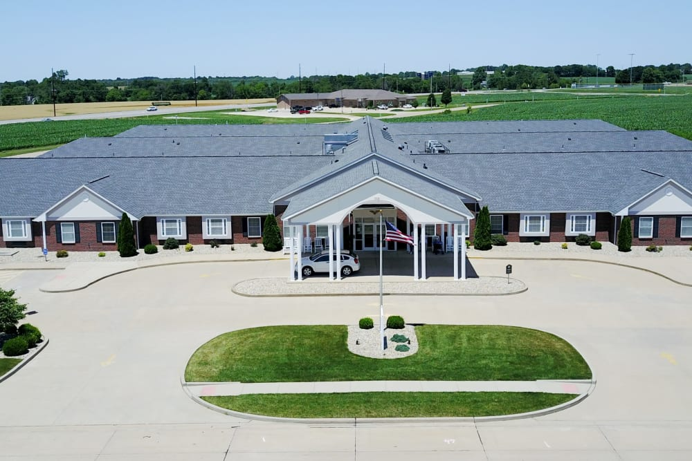 Aerial view of Garden Place Waterloo in Waterloo, Illinois.