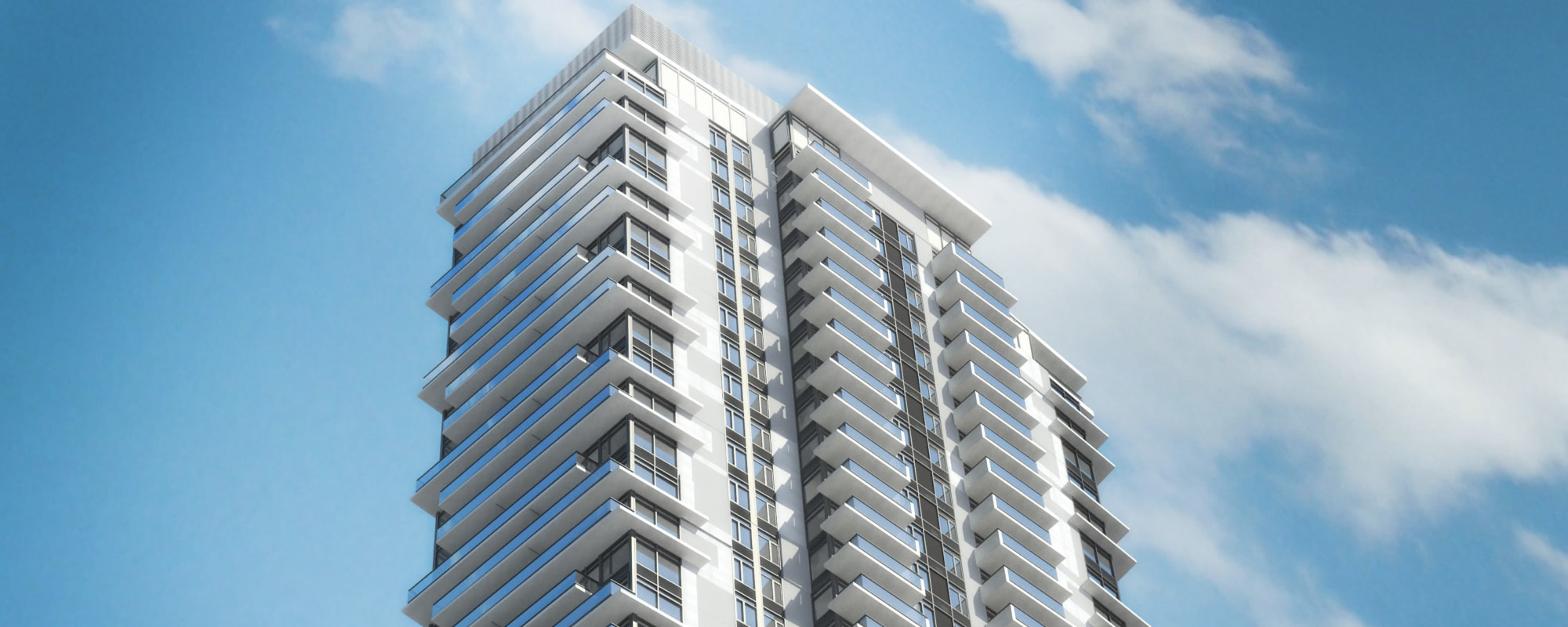 Apartment building in development in Burnaby, British Columbia at Parkview Development