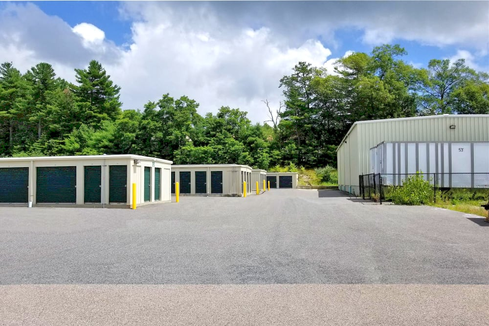 Wide driveways at Prime Storage in North Grafton, Massachusetts