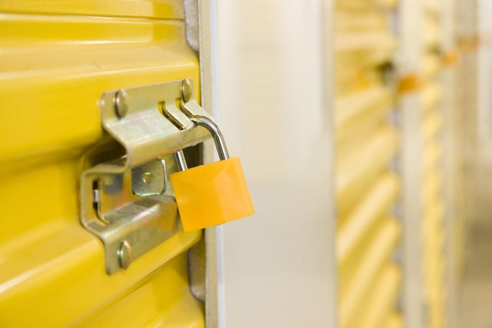 A locked unit at Storage Star in Napa, California