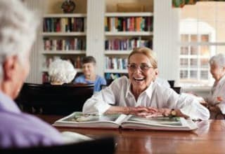 Senior living community offering programs for personal enrichment at Discovery Commons