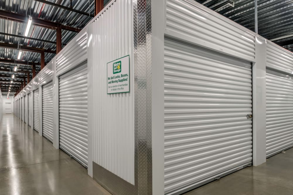 Interior storage units at Metro Self Storage in Westhampton Beach