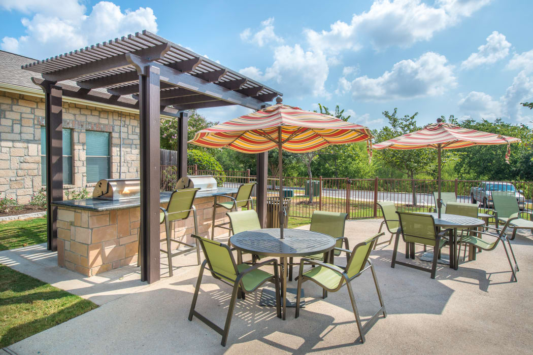 Grilling area at Arya Grove in Universal City, Texas