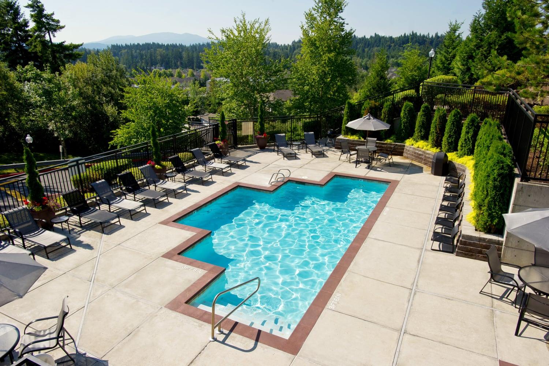 Enjoy the swimming pool at The Knolls at Inglewood Hill in Sammamish, Washington