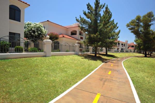 Neighborhood pathway at San Antigua in McCormick Ranch in Scottsdale, Arizona