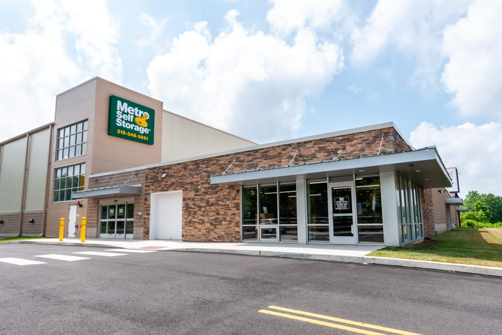 Exterior view of office at Metro Self Storage in Doylestown