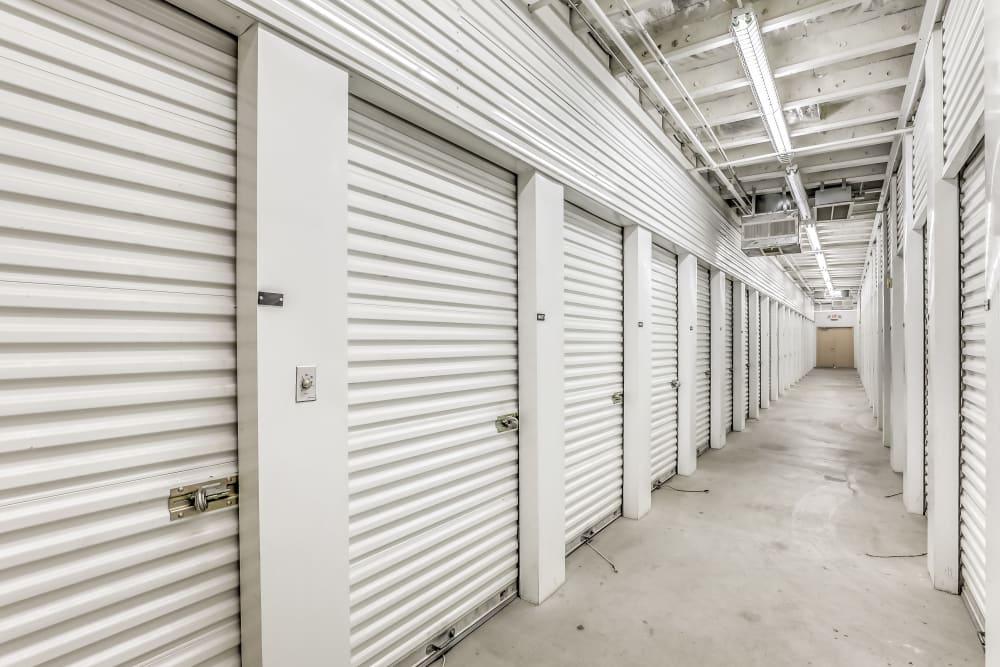 Interior units at Crown Self Storage in North Las Vegas, Nevada