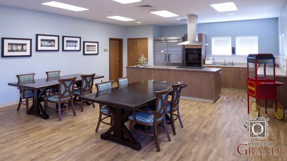 Activity room at The Oxford Grand Assisted Living & Memory Care in Wichita, Kansas
