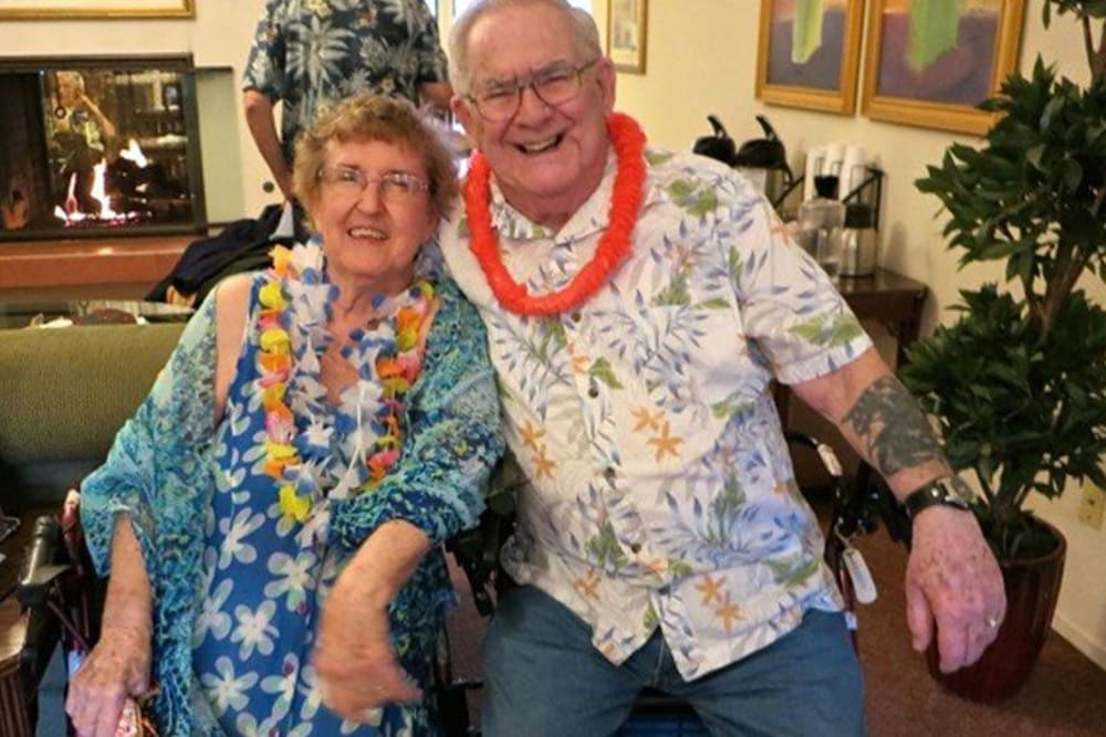 Luau event at Roseville Commons Senior Living in Roseville, California