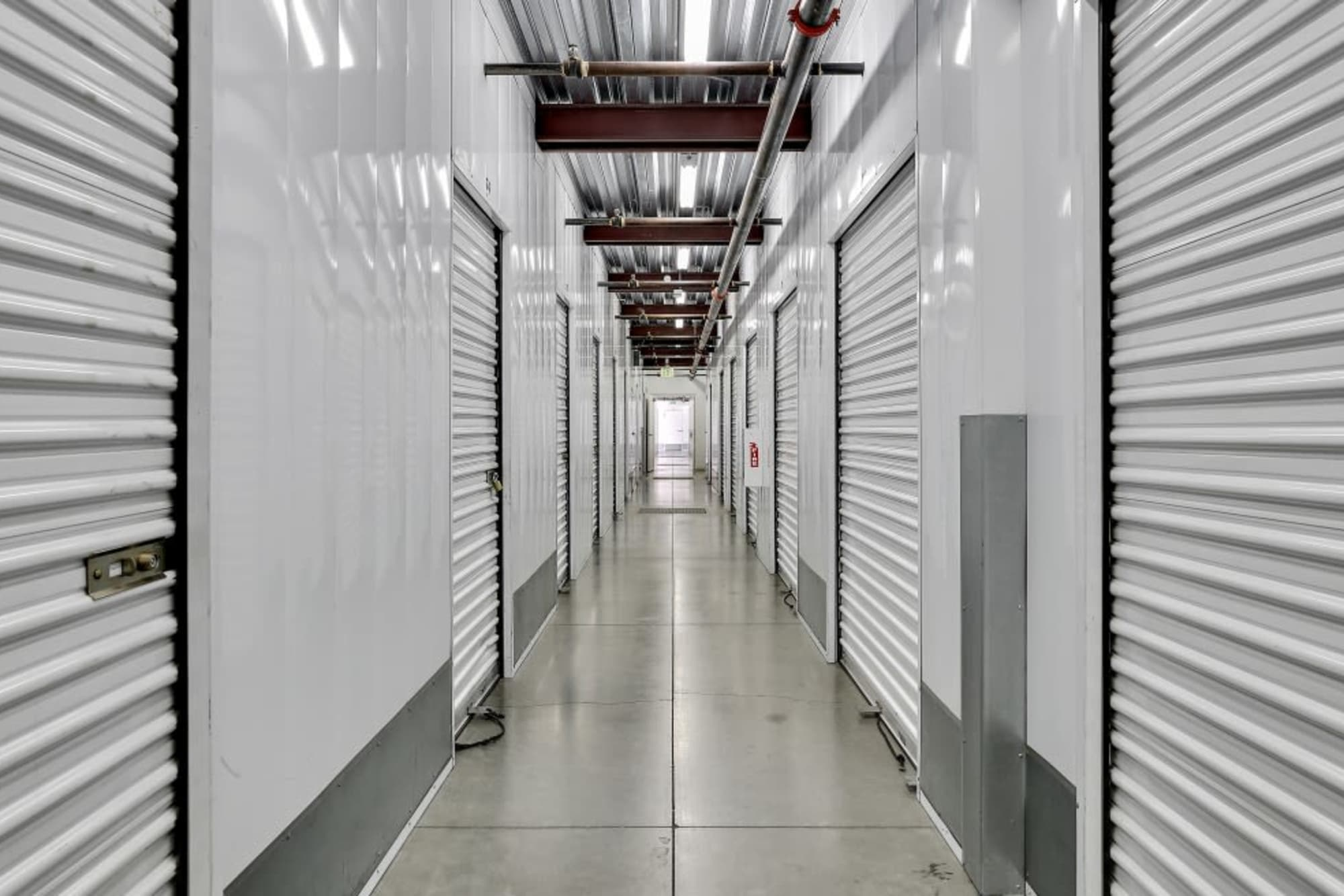 Clean facilities and indoor storage at A-1 Self Storage in San Jose, California