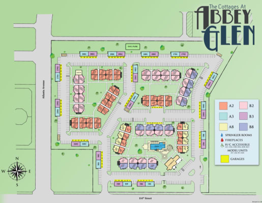 Site map for Cottages at Abbey Glen Apartments in Lubbock, Texas