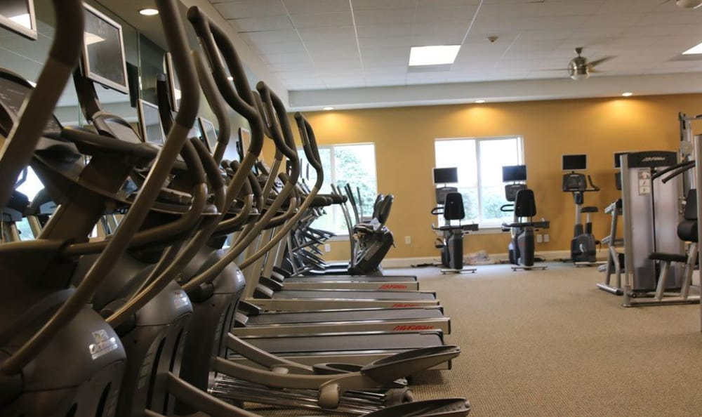 Fitness center at our luxury apartments in Mayfield Heights, OH
