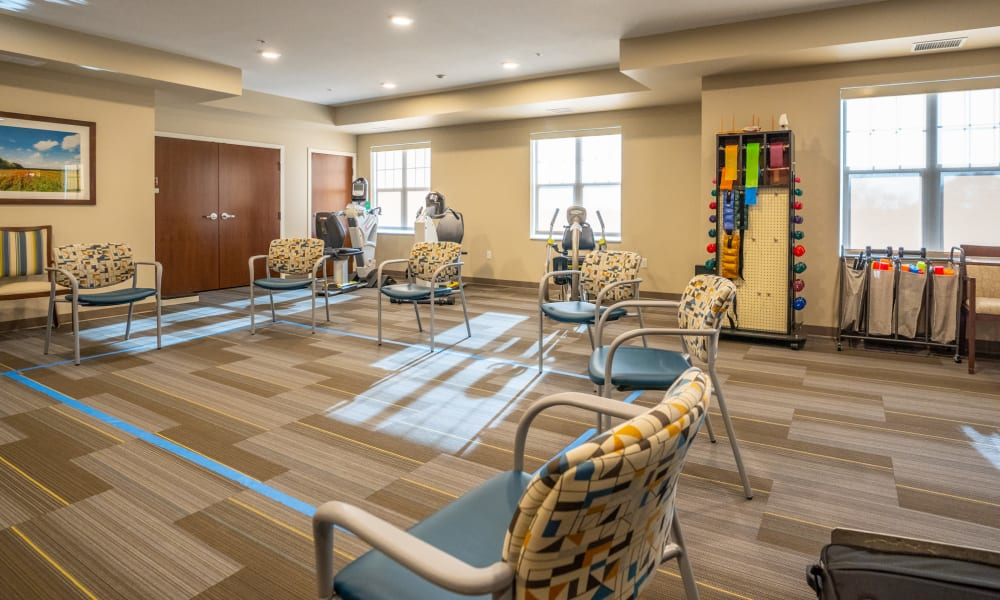 Fitness center at The Sanctuary at St. Cloud in St. Cloud, Minnesota