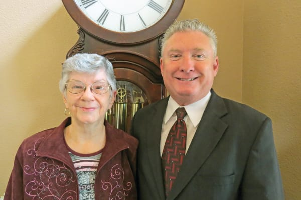 Tom Norvell and Joyce Norvell, a resident of Camden Springs Gracious Retirement Living in Elk Grove, California