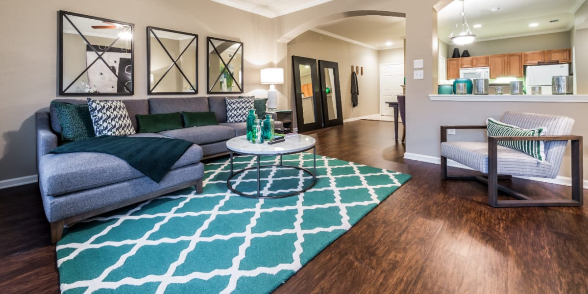Living room at Marquis at The Cascades in Tyler, Texas