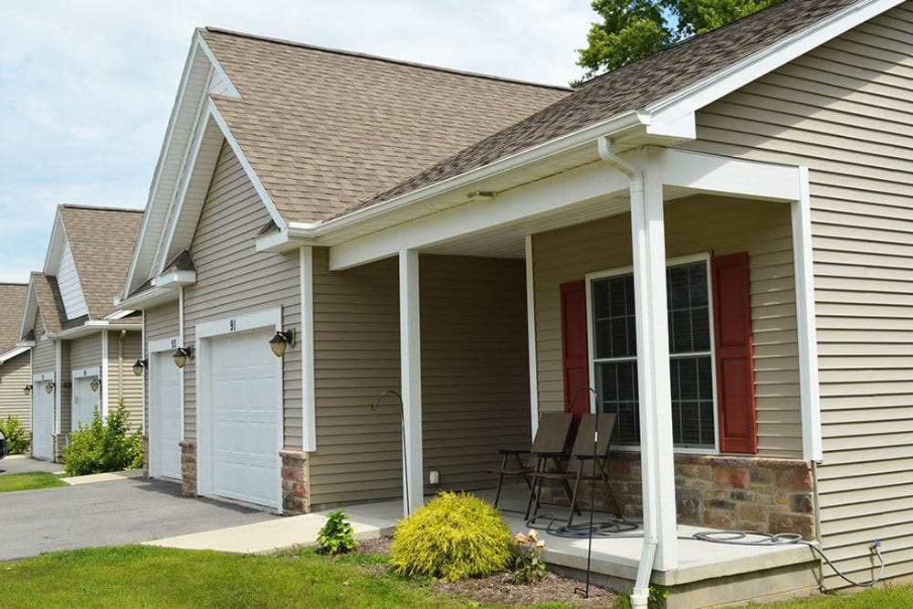 An exterior view of the homes at our Webster NY community