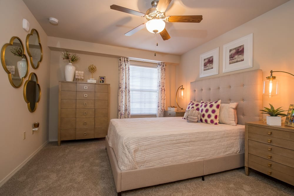 Bright bedroom at Watercress Apartments in Maize, Kansas