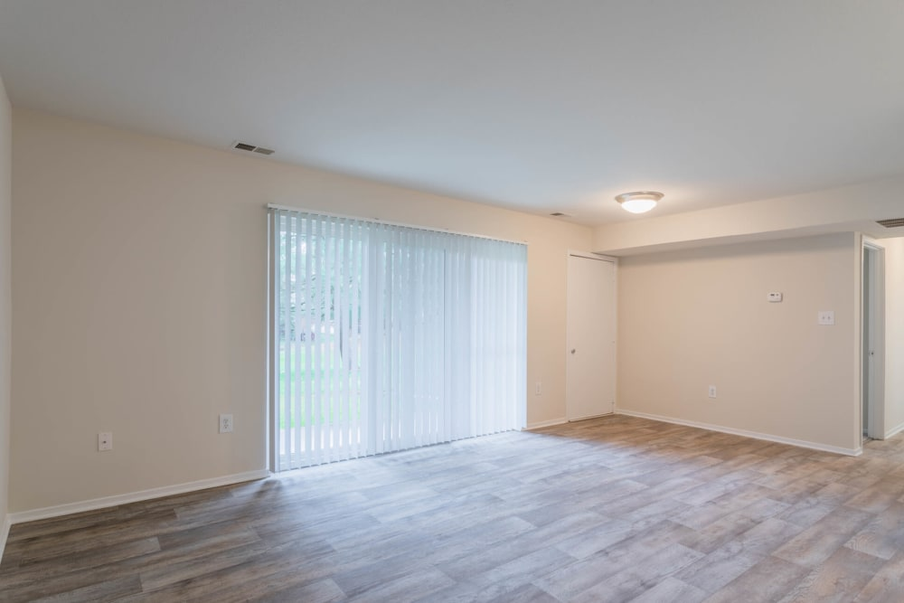 Well-lit floor plan at Tamarron Apartment Homes in Olney, Maryland