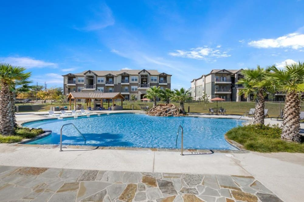Amazing swimming pool for residents to cool off in on a hot day at Verandas at Alamo Ranch in San Antonio, Texas