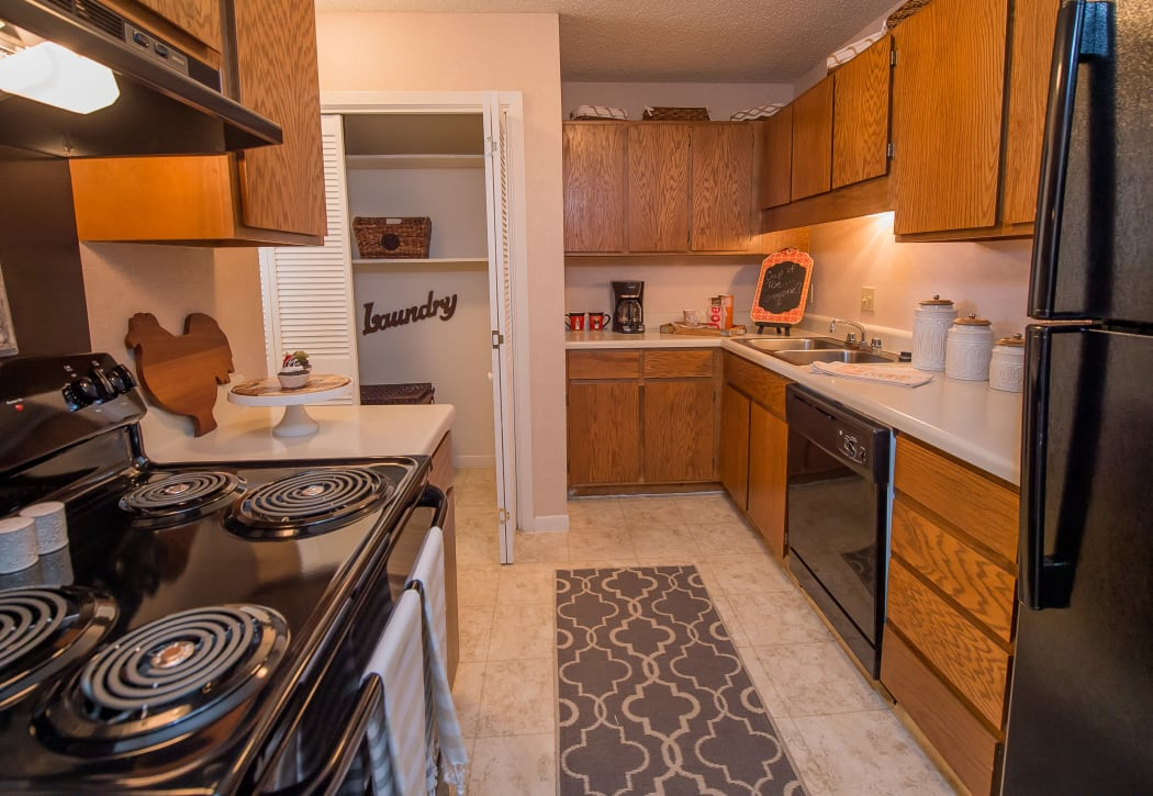 Kitchen at The Mark Apartments in Ridgeland, Mississippi