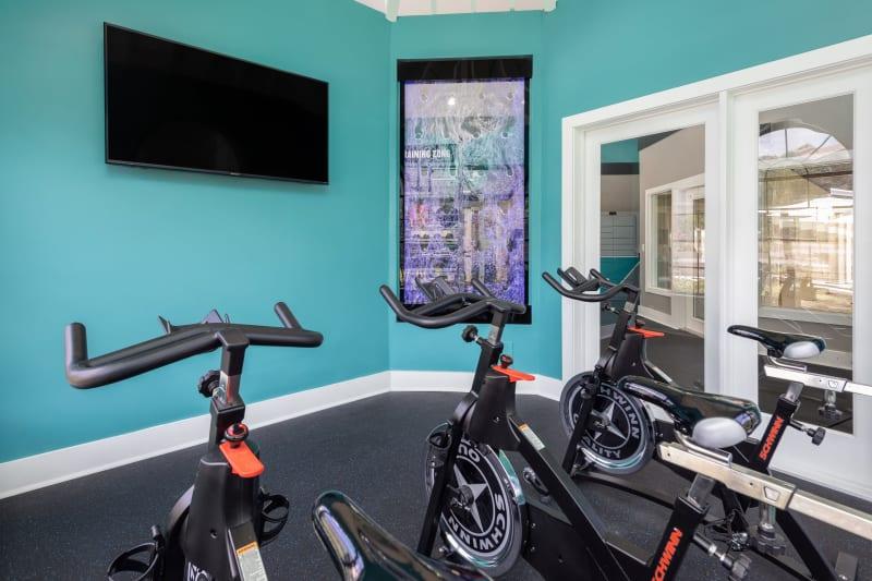 Cycling studio at The EnV in Hollywood, Florida
