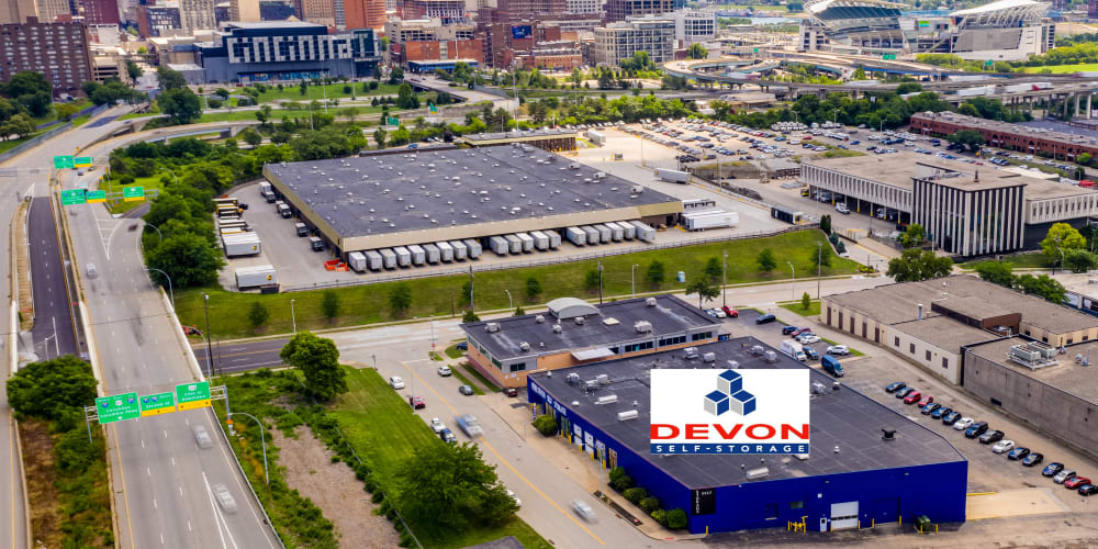 Overhead view at Devon Self Storage in Cincinnati, Ohio